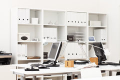 Office workplace. View on an office working place with various business accessories Stock Photo