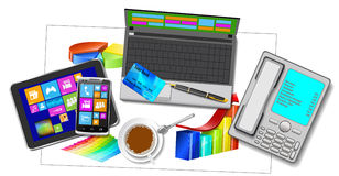 Office Workplace. Royalty Free Stock Image