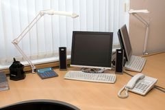 Office workplace. Workplace of the office worker Royalty Free Stock Photography