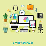 Office Workplace Composition Royalty Free Stock Images