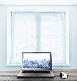 Office workplace with computer Royalty Free Stock Images