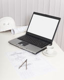 Office workplace of the engineer - still life Royalty Free Stock Photography