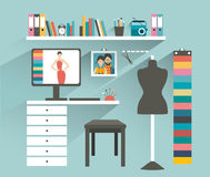 Office workplace. Fashion designer office. Stock Photo