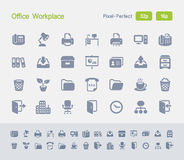 Office Workplace | Granite Icons. Simple glyph style icons designed on a 32x32 pixel grid and redesigned on a 16x16 pixel grid for maximum sharpness at small Royalty Free Stock Photography