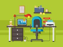 Office workplace royalty free illustration
