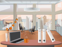 Office workplace interior design. Business objects, elements & equipment. Royalty Free Stock Images