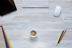 Office workplace at morning Royalty Free Stock Photos