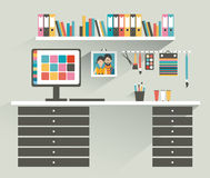 Office workplace. Painter, designer office. Stock Image