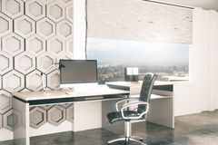 Office workplace sideview Royalty Free Stock Photography