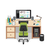 Office workspace. Business workspace in the office stock illustration