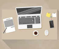 Office, workspace Flat design style Royalty Free Stock Image