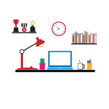 Office workspace furniture computer Royalty Free Stock Photography