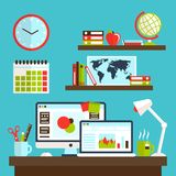 Office workstation design Royalty Free Stock Image