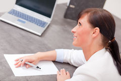 Office write woman Royalty Free Stock Image