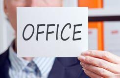 Office written on white card Stock Photo