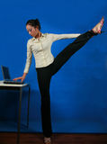 Office yoga Royalty Free Stock Photos