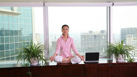 Office yoga Stock Image