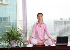 Office yoga Stock Photography