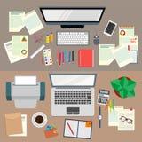 officemates praca Realistyczna miejsce pracy organizacja najlepszy widok ilustracji