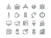 officemates Set konturu wektoru ikony Zawiera tak jak Biznesowy spotkanie, miejsce pracy, budynek, materiały i inny, ilustracji