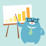 Officer bear present graph Stock Images