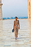 Officer closes the Taj Mahal Royalty Free Stock Photos