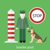 Officer custom control sign Royalty Free Stock Images