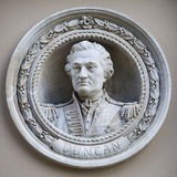 Officer Henry Duncan Medallion Bust in Greenwich Royalty Free Stock Image