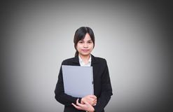 Officer Holding a document file Stock Photos