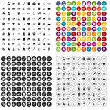 100 officer icons set vector variant. 100 officer icons set vector in 4 variant for any web design isolated on white Royalty Free Illustration