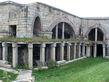 Officer Quarters Fort Adams stock photo