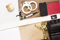 Officer recommended martial arts classes Royalty Free Stock Photo