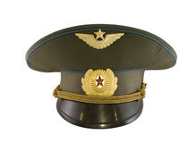 Officer's cap of Soviet pilot Royalty Free Stock Image