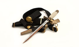 Officer's dagger on an isolated white background Royalty Free Stock Photography