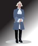 Officer in a wig Royalty Free Stock Photo