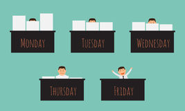 Officer working on the week. Officer working on the week, illustration  design EPS10 Stock Image