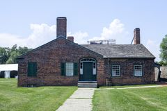 The officers brick barracks at Fort York in Toronto Stock Photo