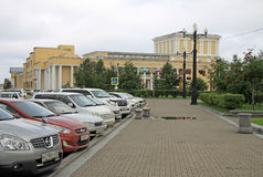 Officers club of Eastern military district in Khabarovsk Royalty Free Stock Photography