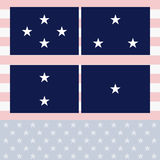 Officers Flags Navy Royalty Free Stock Photography