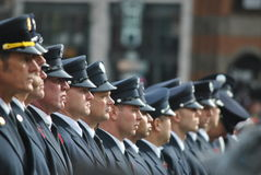 Officers in line Stock Photos