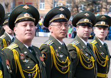 Officers at parade stock photography