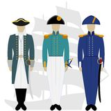 Officers of the Russian fleet-1 Stock Photography
