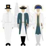 Officers of the Russian fleet-3 Royalty Free Stock Images