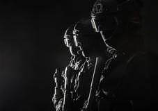 OfficersSWAT de la policía de los ops de espec. fotografía de archivo libre de regalías