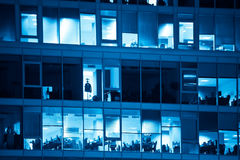 Offices blue toned royalty free stock images