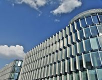 Offices building under cloudy Royalty Free Stock Photo