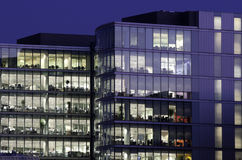 Offices at night Royalty Free Stock Photos