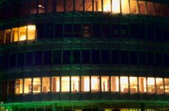 Offices by Night closeup Royalty Free Stock Images