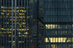 Offices at night. London, England, United Kingdom Stock Photos
