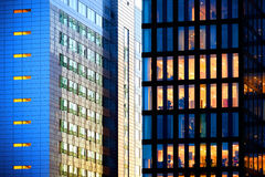 Offices by night. Night scene of modern buildings Royalty Free Stock Photo